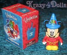 "Disney 3"" Vinylmation 2014 Fantasia Sorcerer Mickey Mouse WDW NEW with Box!"