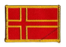 Écusson brodé drapeau FRANCE NORMANDIE CROIX DE SAINT OLAF  5x8cm Thermocollant