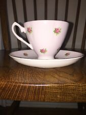 Vintage Crownford Fine Bone China Tea Cup and Saucer Roses Made in England
