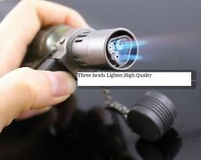 HONEST New Hot 3 Flame Cigarette Cigar Refillable Butane Jet Torch Lighter