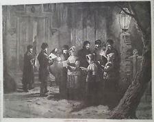 CHRISTMAS CAROLS IN CANADA 1877 HARPER'S WEEKLY