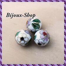 25 Perles métal, peinte a la main 10mm