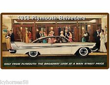 1958 Plymouth Belvedere  2 Door Auto Car  Refrigerator / Tool Box  Magnet