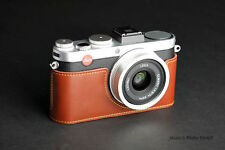 Genuine real Leather Half Camera Case bag Cover for Leica X-E Typ 102 X2 X1