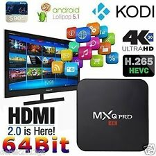 S905 64-bit 4K Android 5.1 Smart TV Box Free Moive Quad Core 1G+8G Kodi Xbmc