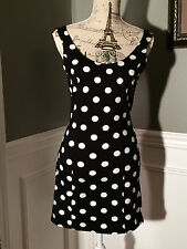NWT FOREVER 21 BLACK POLKA DOTED DRESS SIZE:L