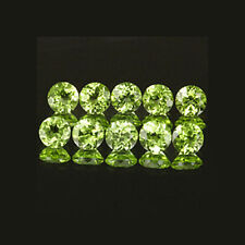 2.5mm 10pc Set Round Cut Accent Stone Natural Green PERIDOT