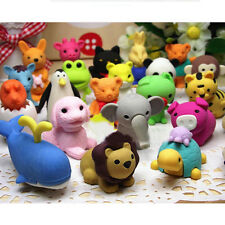 5Pcs/lot Creative Novelty Cartoon Animal Multi-patterns Erasers Random Color