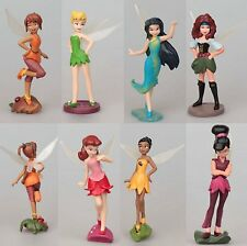 "Tinkerbell Fairy 3"" 7 pcs Girls Doll Figures Set: Silvermist Rosetta Tinker Bell"