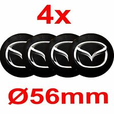 4x Silicone Stickers for Wheel Centre Cap Hubs for MAZDA - 56mm