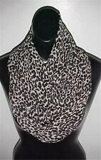 Black/Gray Print Infinity Circle Scarf #405 by Rachelle NEW
