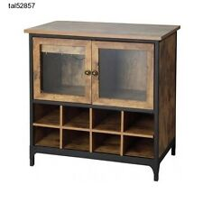 Wine Storage Cabinet Rack Rustic Bottle Glass Kitchen Buffet Bar Country Drawer