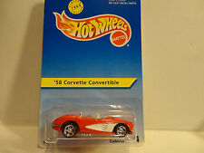 Hotwheels Blue Card #14 '58 Corvette Convertible Experimental Card