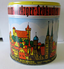 VINTAGE  HAEBERLEIN-METZGER LEBKUCHEN NUMBERG TIN MADE IN GERMANY
