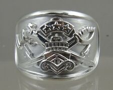 US NAVY SWCC PATROL OFFICER Ring solid .925 sterling silver size 11