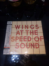PAUL MCCARTNEY & WINGS Wings at the Speed of Sound JAPAN CARDBOARD CASE SHM 2 CD