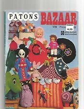1950's PATONS  BAZAAR #178 geisha doll/finger puppets/cosies/toys 50 patterns