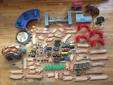 Huge Lot Of Wooden Trains Thomas & Friends Brio Wood Tracks Parts & Pieces