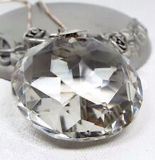 Art Deco Sterling Silver Huge Natural Rock Crystal Chandelier Pendant Necklace