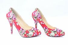 Woman Ladies  Shoes High Heel Floral Print Heels 4 Colors Pointed Toe 9 cmITC498