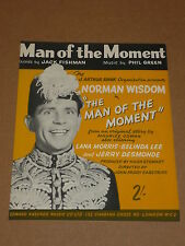 """Man Of The Moment"" 1955 film sheet music (Norman Wisdom/Belinda Lee)"