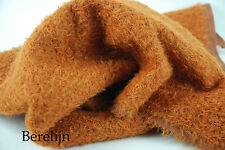 """Mohair Fat 1/4 yard 1/2"""" sparse  curly  felted Rust Brown H108"""