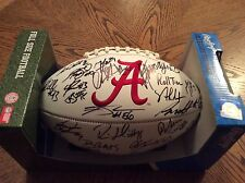 2016 ALABAMA CRIMSON TIDE  AUTOGRAPHED TEAM SIGNED LOGO FOOTBALL LOA 30 sigs