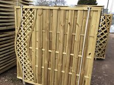 fencing with shaped top, European style, 1.8 x 1.8, pressure treated, CHELSEA