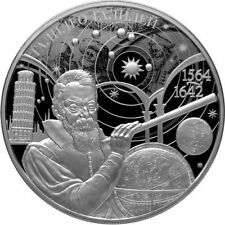 Russia 2014, 25 Rouble Galileo Galilei, 5oz Silver Proof coin, only 850 made!