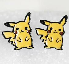 pikachu pokemon standing metal earring ear stud earrings anime Studs new