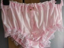 Beautiful Pink Nylon Front Split Panties Sissy CD TV