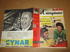 RIVISTA SPORTIVA IL CAMPIONE ANNO 1956 ANNO II° N°18 MILANOSANREMO MAGNI BARTALI