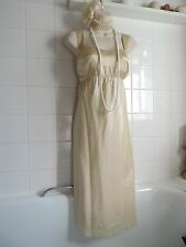 NEXT Vintage 1920's 14 Pale Gold Victorian Charleston Downton Gatsby Prom DRESS