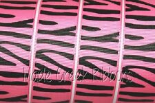 Animal Print Grosgrain Ribbon 1 in x 1 yard (3 ft of cut ribbon) YOU PICK PRINT