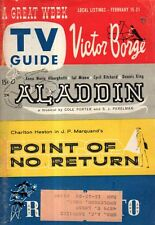 1958 TV Guide February 15-Jerry Lewis; Walter Brennan; Sal Mineo; Shirley Temple