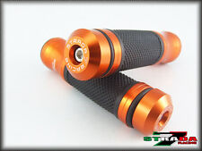 KTM 1190 Adventure 1290 Super Duke R Strada 7 CNC Grips & Bar Ends Combo Orange