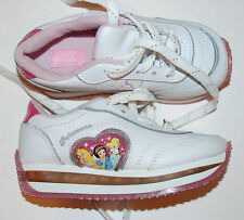 New Disney Princess Loittle Girl athletic lace light up shoes size 11 white pink