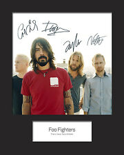 FOO FIGHTERS 10x8 SIGNED Mounted Photo Print - FREE DELIVERY
