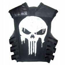 Thomas Jane Punisher Tactical Black Leather Vest - Avail On Best Price