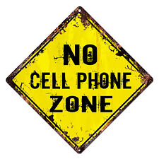 DS-0013 NO CELL PHONE ZONE Diamond Sign Rustic Chic Sign Shop Home Decor Gift