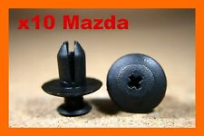 10 Mazda bumper fender scuff rubbing plastic fastener push screw clips