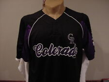 GORGEOUS Colorado Rockies Men's Sz Lg Black Majestic Jersey, NEW&NICE!!