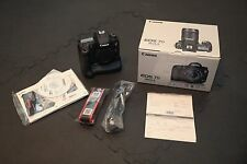 Canon EOS 7D Mark II Body with Battery Grip and 2 batteries