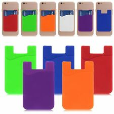 Mobile Phone Back Adhesive Card Bus Pass Pouch Case Stick Sticker Holder