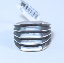 New David Yurman Men's Knife Edge Signet Ring Sterling Silver Size 10 $425