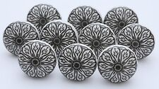 Black and White Handmade Ceramic Cupboard Door Knobs Kitchen Knob Lot of 14