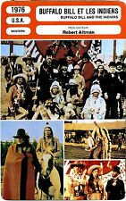 Fiche Cinéma. Movie Card. Buffalo Bill et les Indiens / And the indians USA 1976