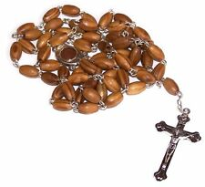 Olive Wood Rosary with Soil from Bethlehem, Certificate