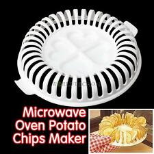 Lightweight DIY Low Calories Microwave Oven Fat Free Potato Chips Maker New WT7n