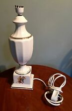 "VINTAGE OFF WHITE CERAMIC/PORCELAIN ITALIAN  TABLE/BEDROOM LAMP 16"" X 4 1/2"""